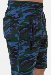 Мужские камуфляжные шорты с нашивкой Росгвардия - заказать оптом