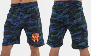 Мужские камуфляжные шорты с нашивкой Росгвардия - заказать в розницу