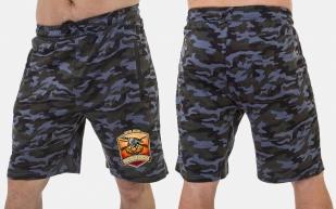 Мужские камуфляжные шорты с нашивкой Русская Охота - купить в подарок