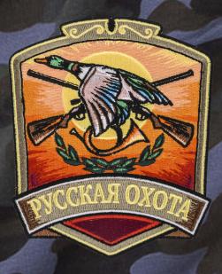 Мужские камуфляжные шорты с нашивкой Русская Охота