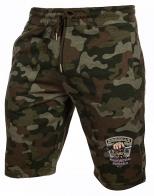 Мужские камуфляжные шорты с шевроном Охотничьих войск