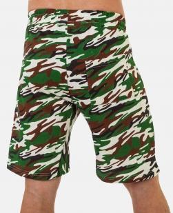 Мужские камуфляжные шорты с шевроном Погранслужбы купить оптом