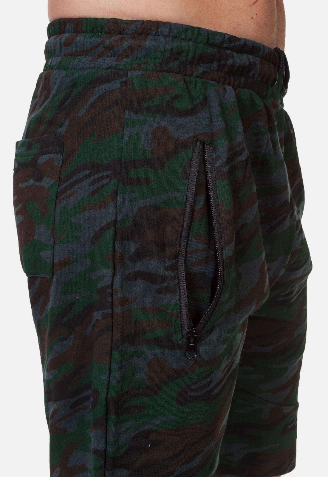 Мужские камуфляжные шорты с вышитой нашивкой Потомственный казак купить с доставкой