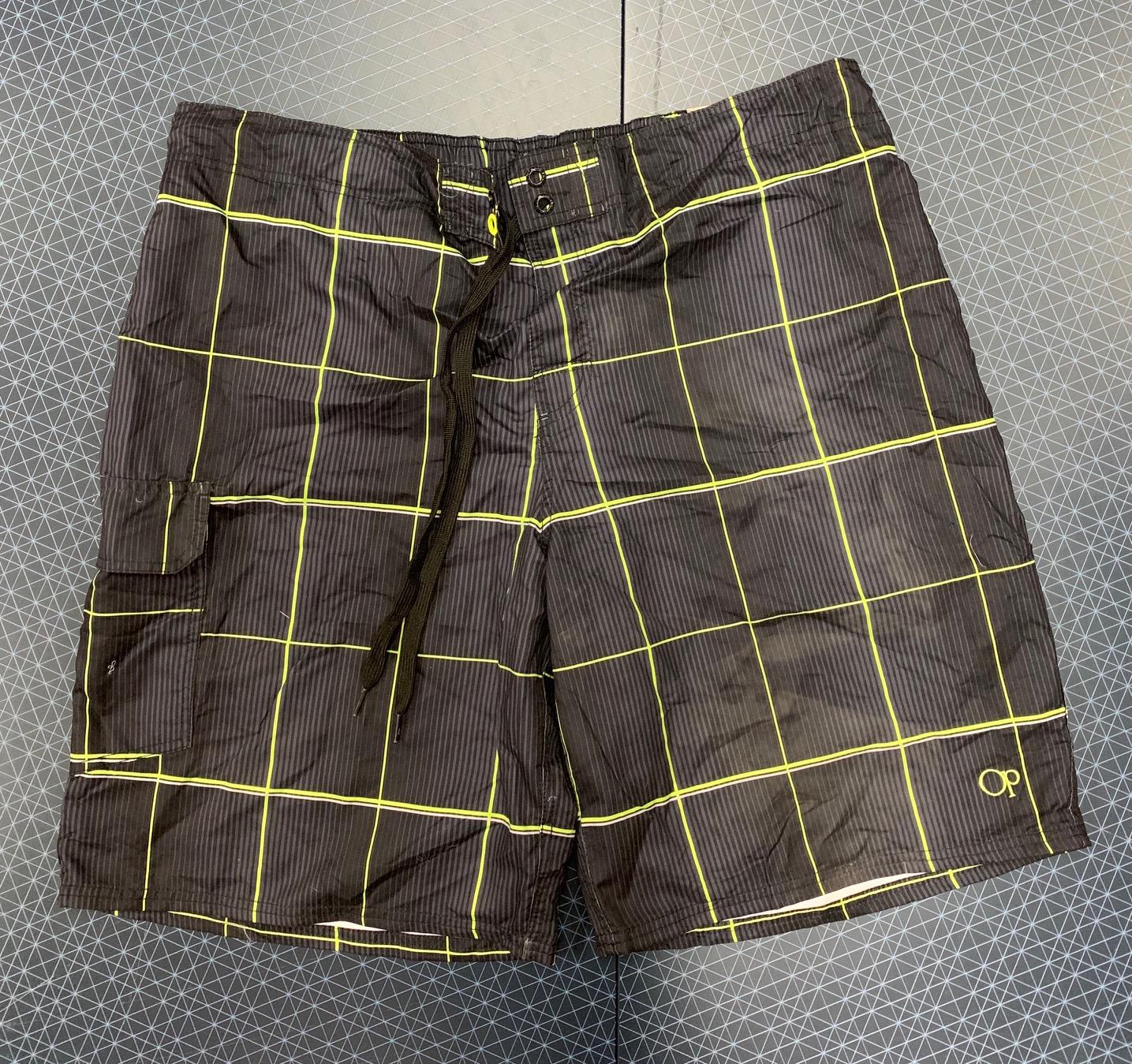 Мужские коричневые шорты в клетку от OP