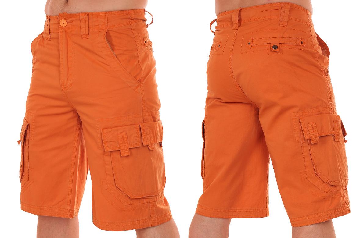 Заказать оригинальные оранжевые мужские шорты от Grind House