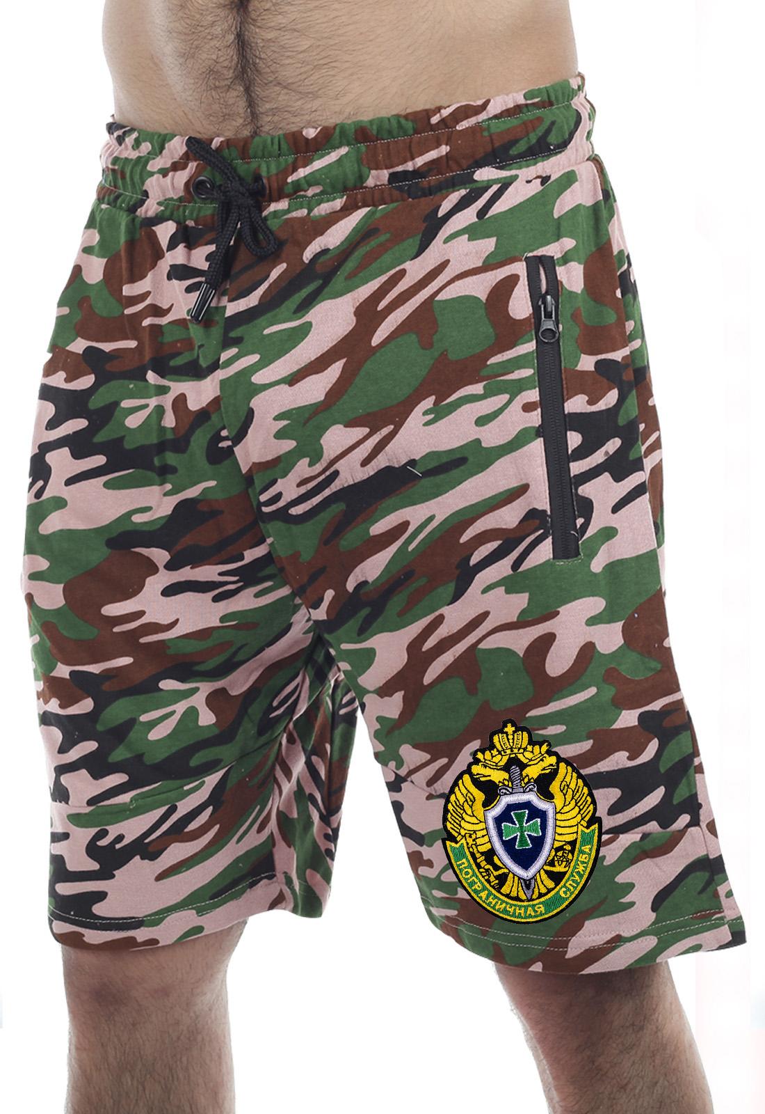 Мужские летние шорты с эмблемой Пограничной службы купить онлайн