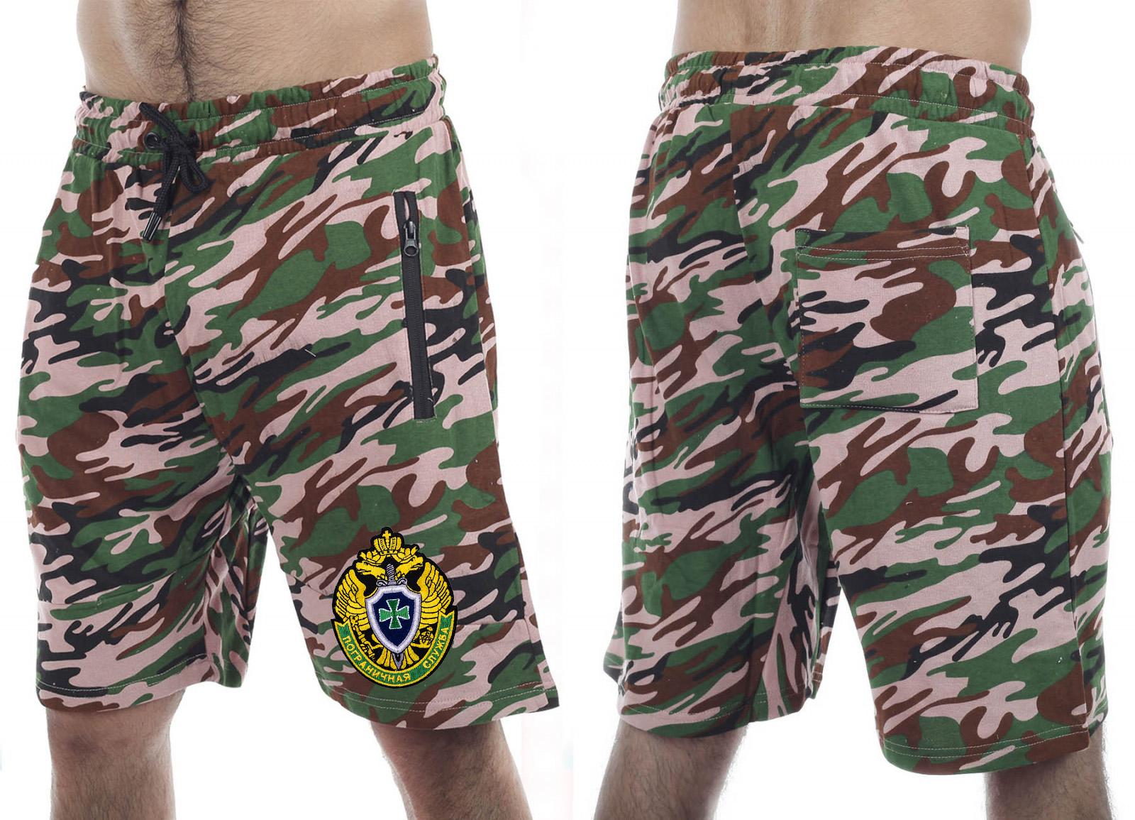 Мужские летние шорты с эмблемой Пограничной службы купить в подарок