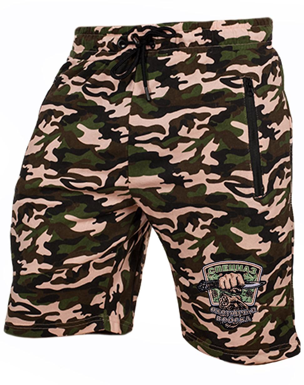 Мужские летние шорты с шевроном Охотничьих войск