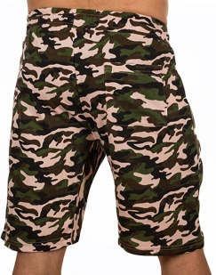 Заказать мужские летние шорты с шевроном Охотничьих войск