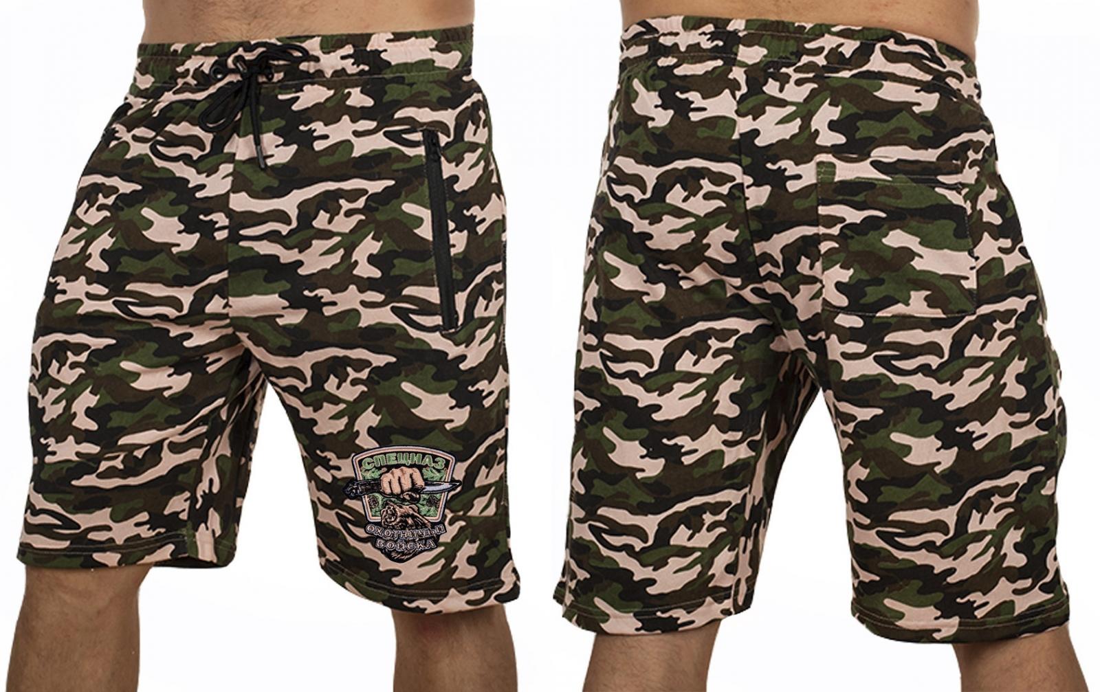 Мужские летние шорты с шевроном Охотничьих войск купить онлайн