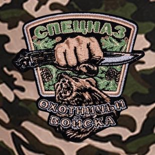 Мужские летние шорты с шевроном Охотничьих войск купить оптом