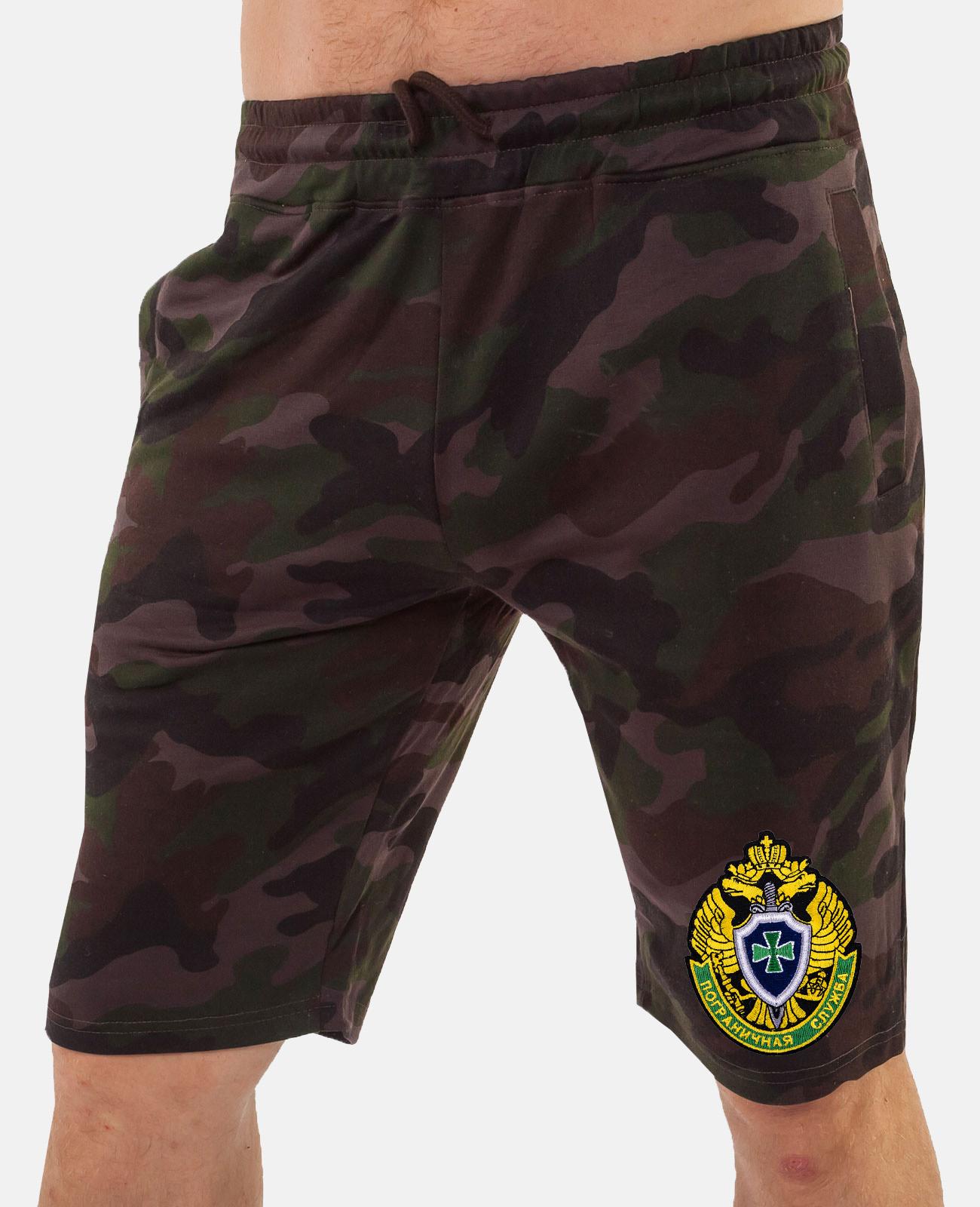 Мужские милитари шорты с эмблемой ПС купить в розницу или оптом
