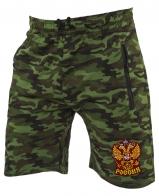 Мужские милитари шорты с нашивкой Россия