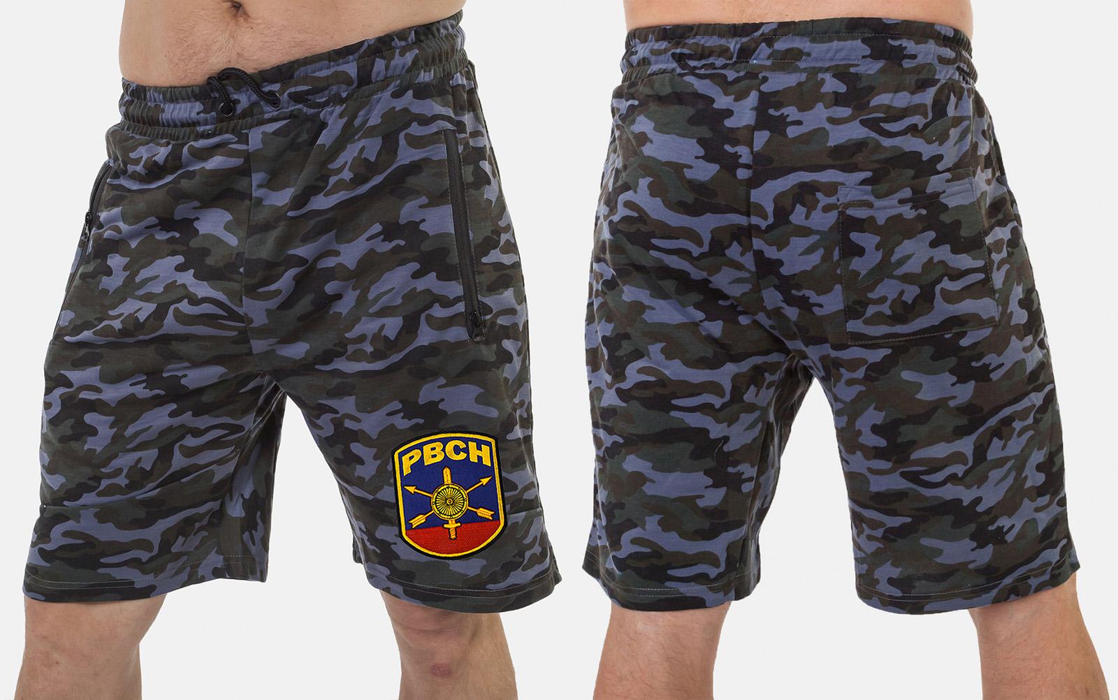 Мужские милитари шорты с нашивкой РВСН - купить с доставкой