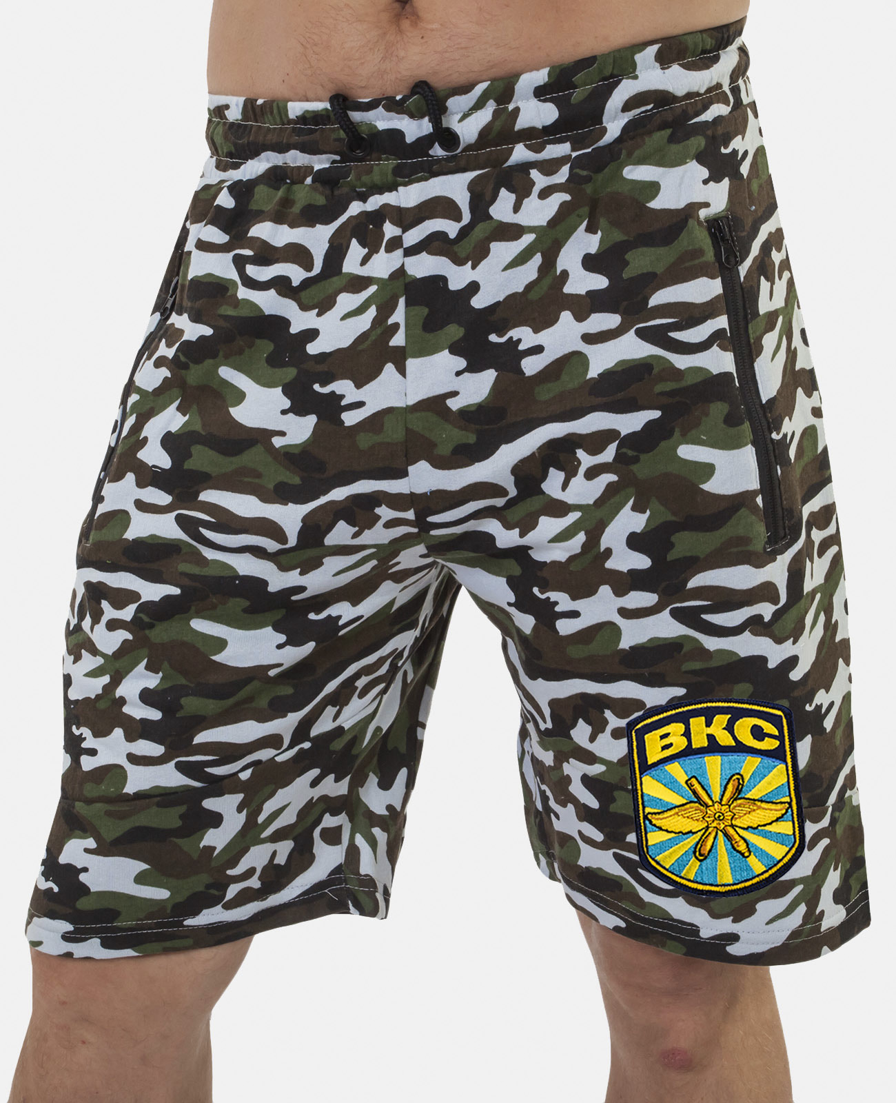 Купить мужские милитари шорты с нашивкой ВКС с доставкой онлайн