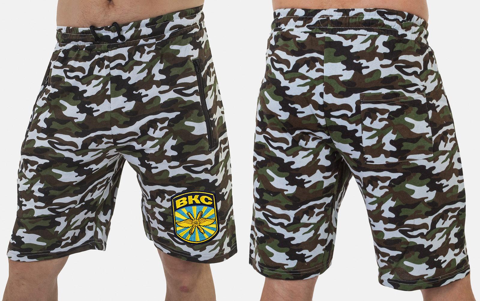Мужские милитари шорты с нашивкой ВКС - купить в розницу