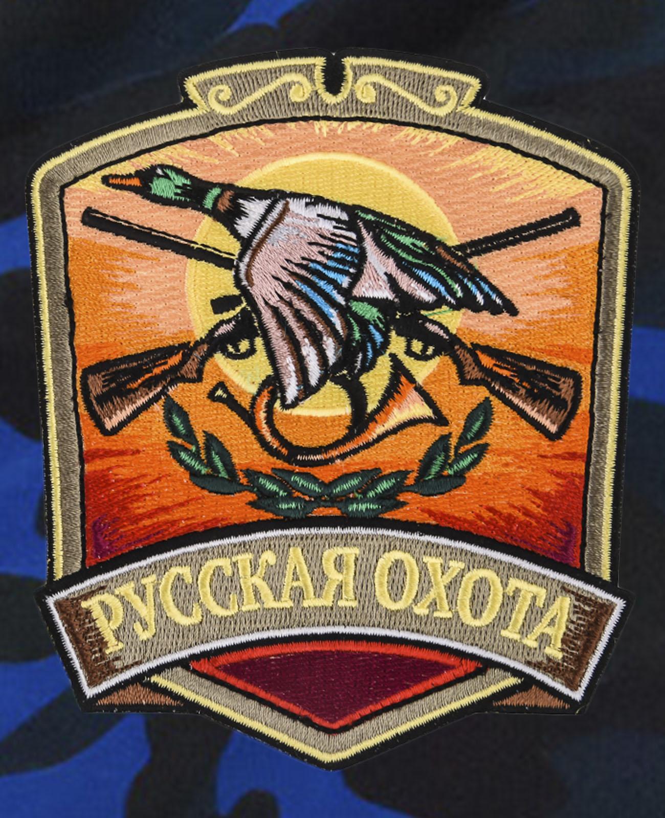 Мужские охотничьи шорты с нашивкой Русская Охота