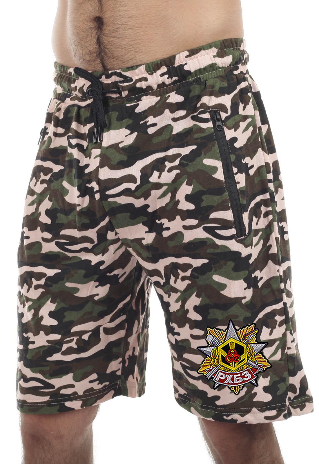 Купить мужские оригинальные шорты с нашивкой РХБЗ в подарок мужчине