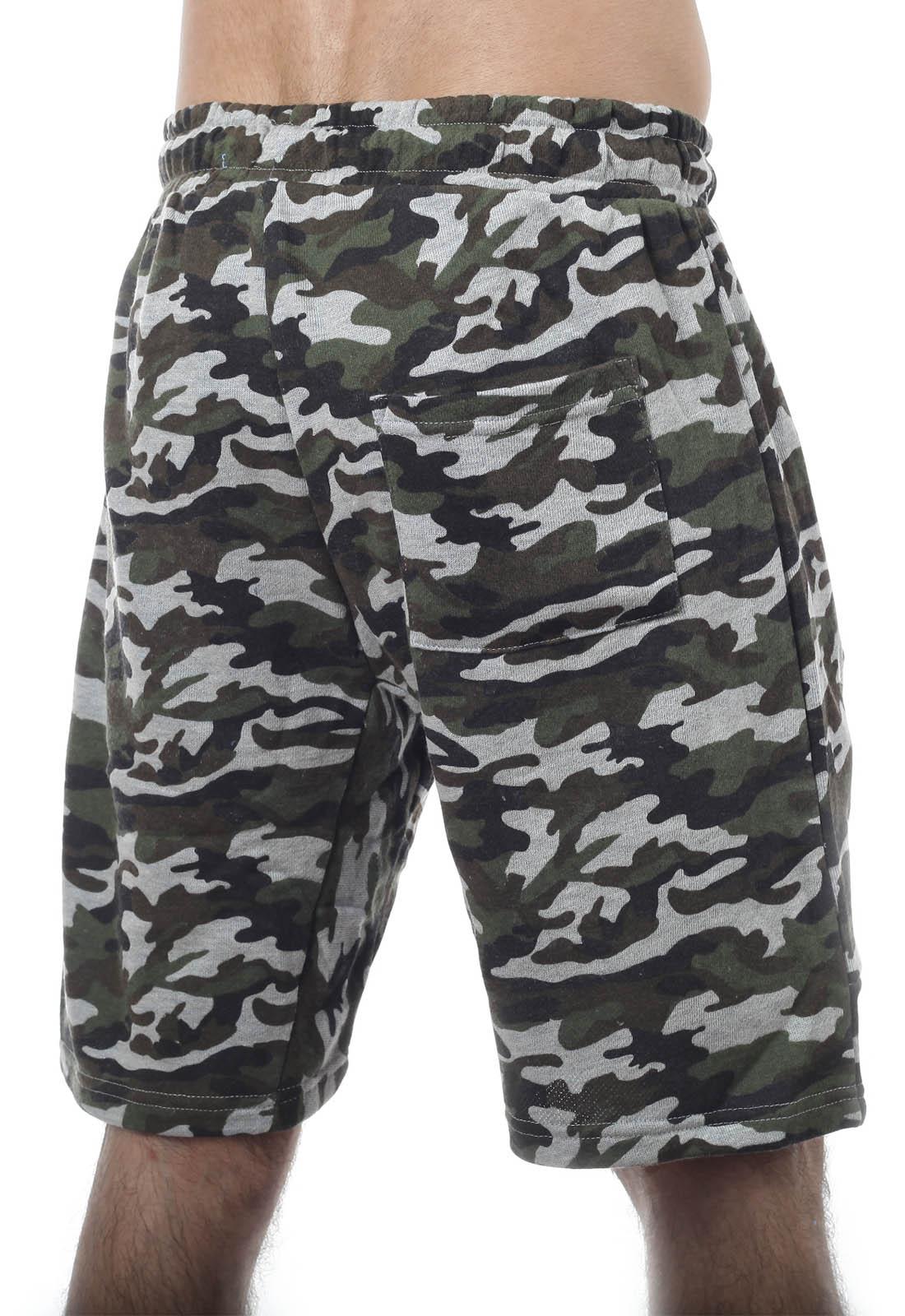 Мужские особенные хаки-шорты с нашивкой РХБЗ - купить онлайн