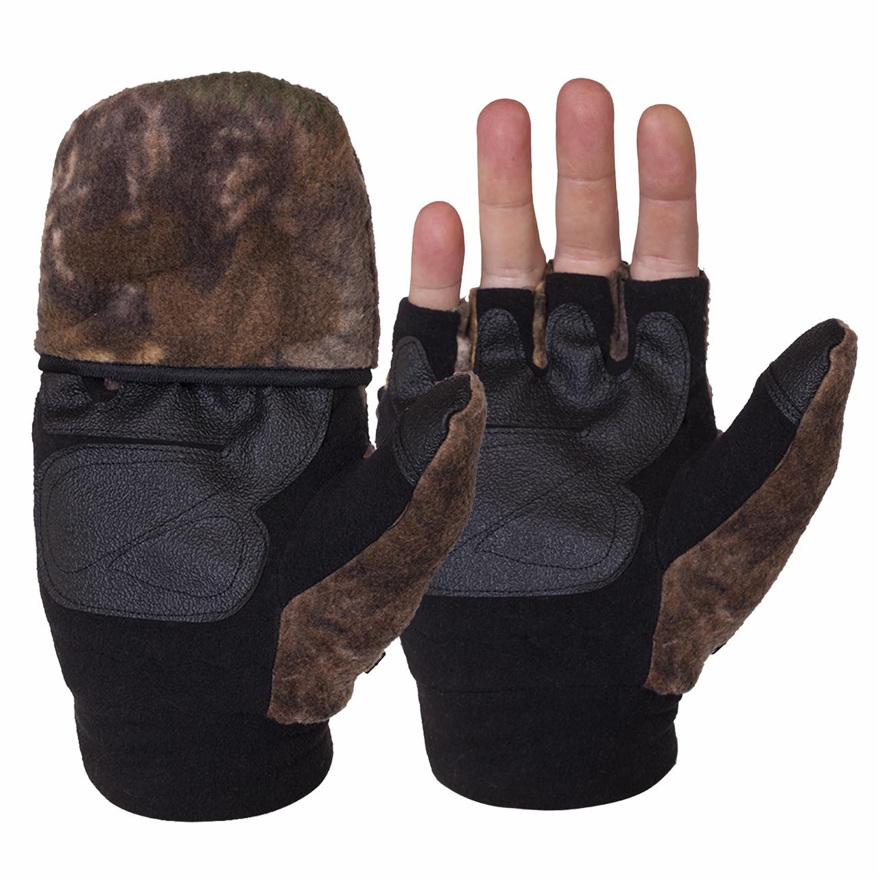 Откидные перчатки варежки без пальцев