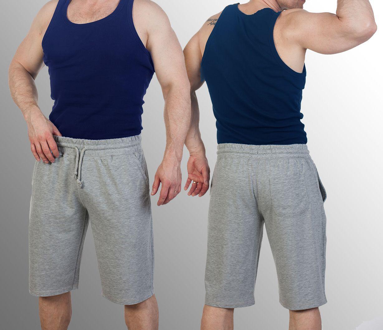 Мужские серые шорты с доставкой