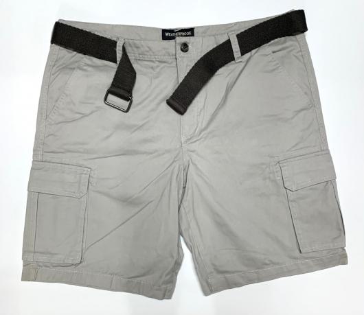Мужские серые шорты с накладными карманами