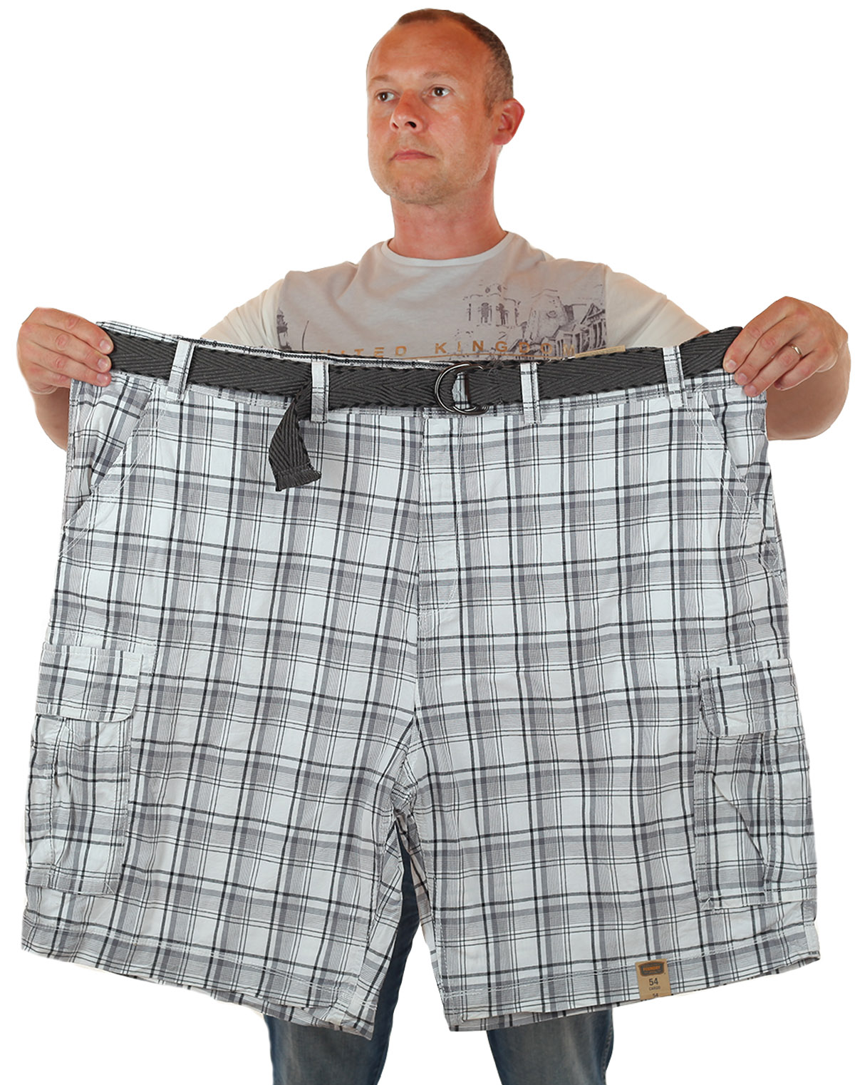 Мужские шорты баталы в клетку