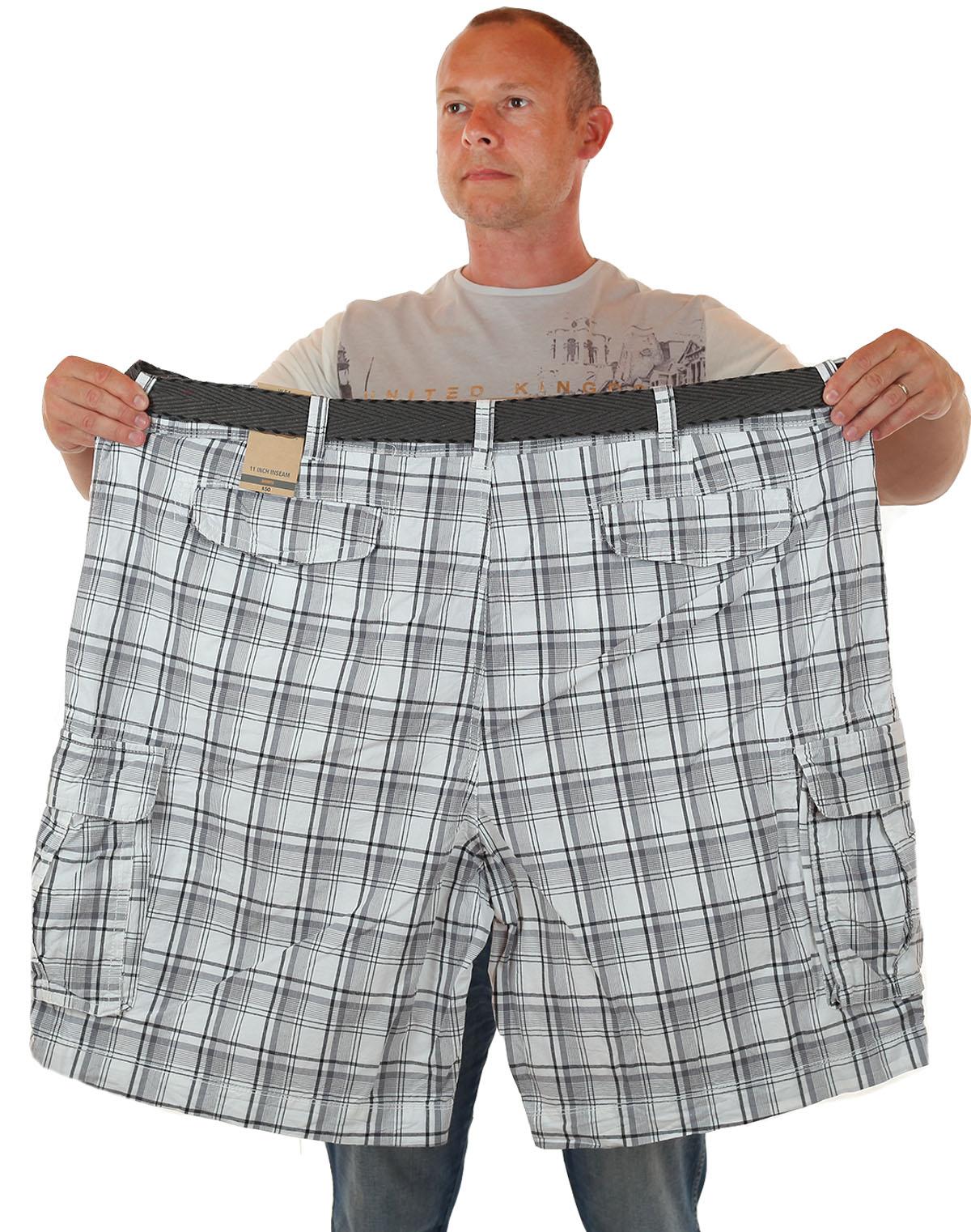 Купить мужские шорты баталы в клетку в интернет-магазине