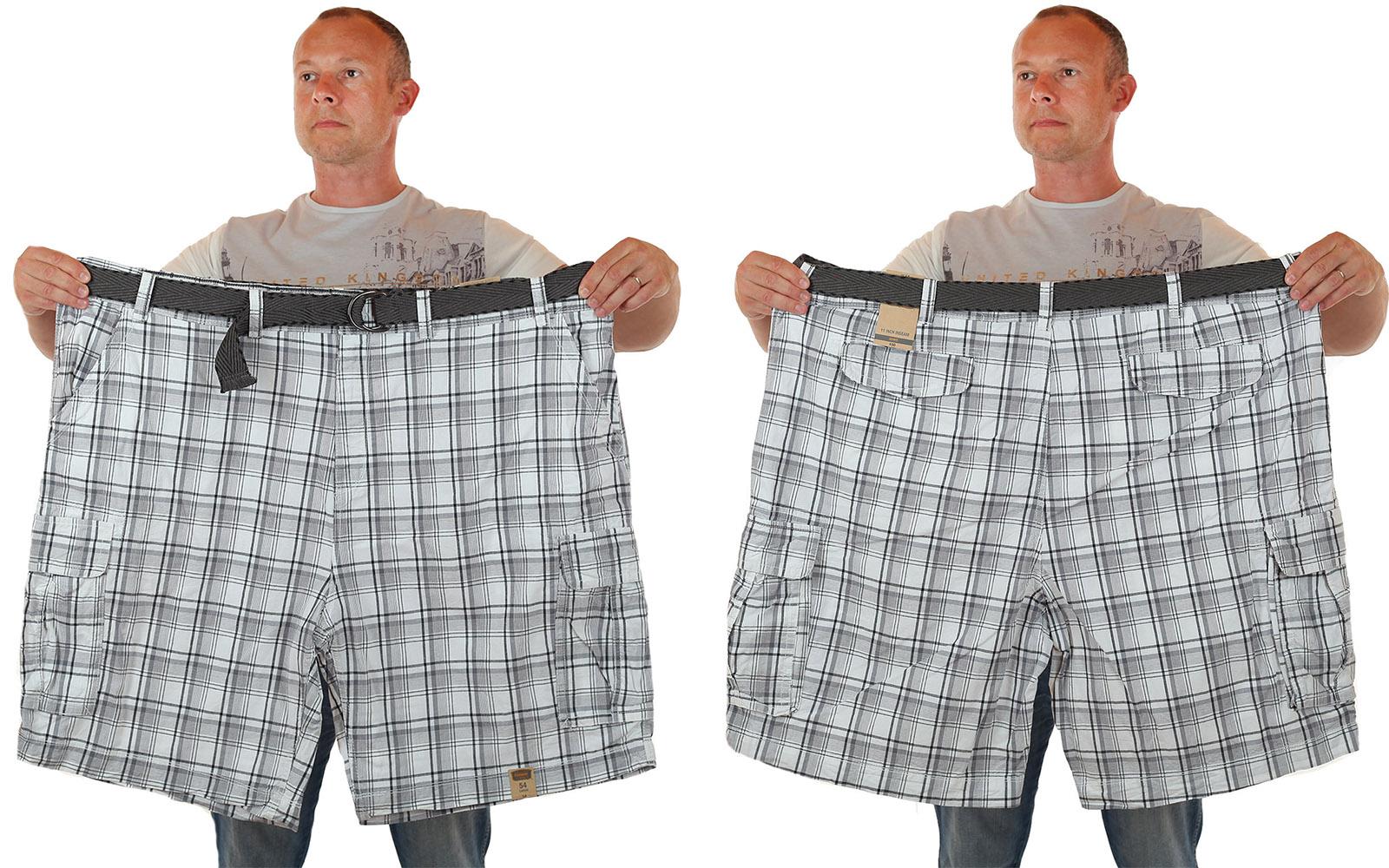 Заказать мужские шорты баталы в клетку - купить с доставкой
