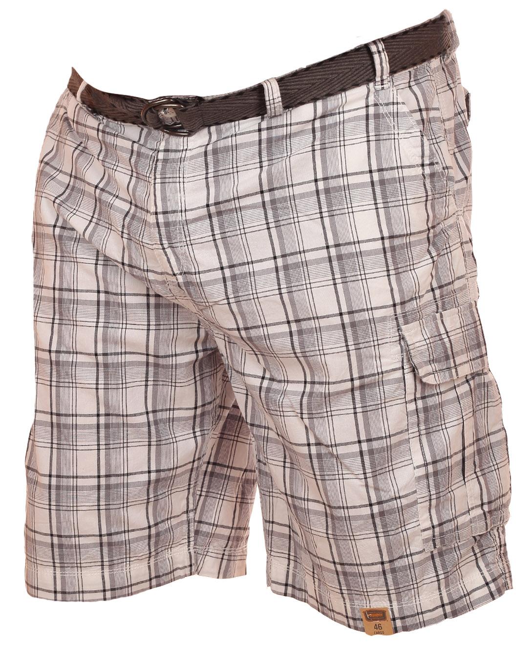 Брендовые мужские шорты баталы в клетку