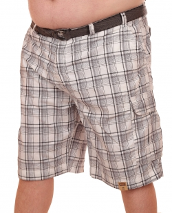 Мужские шорты баталы в клетку с доставкой