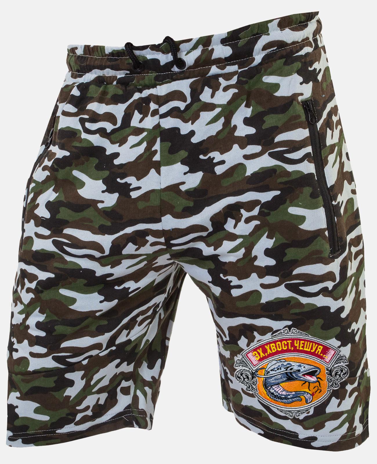 Мужские шорты для летней рыбалки с вышитой нашивкой