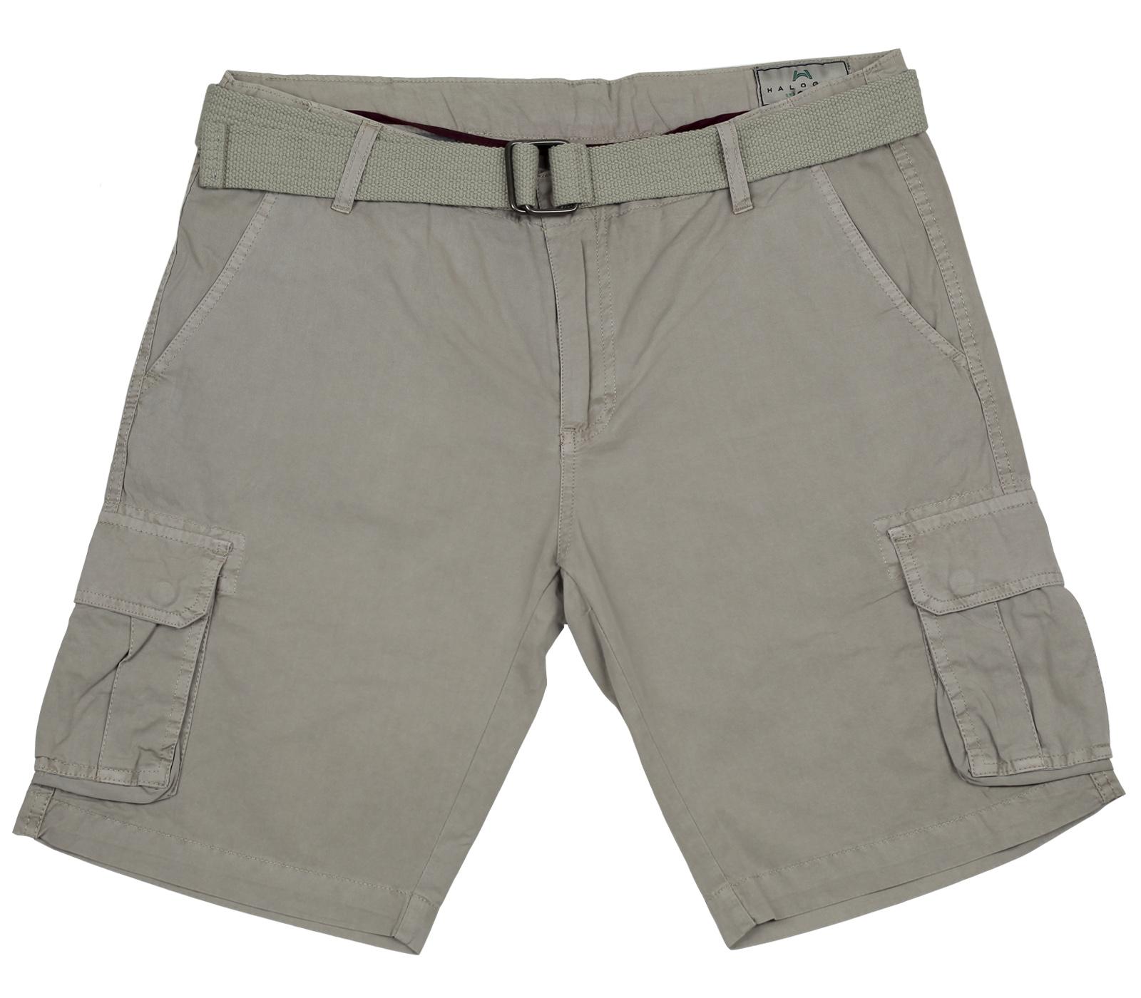 Мужские шорты Halogen. Стильная модель цвета хаки. 100% хлопок