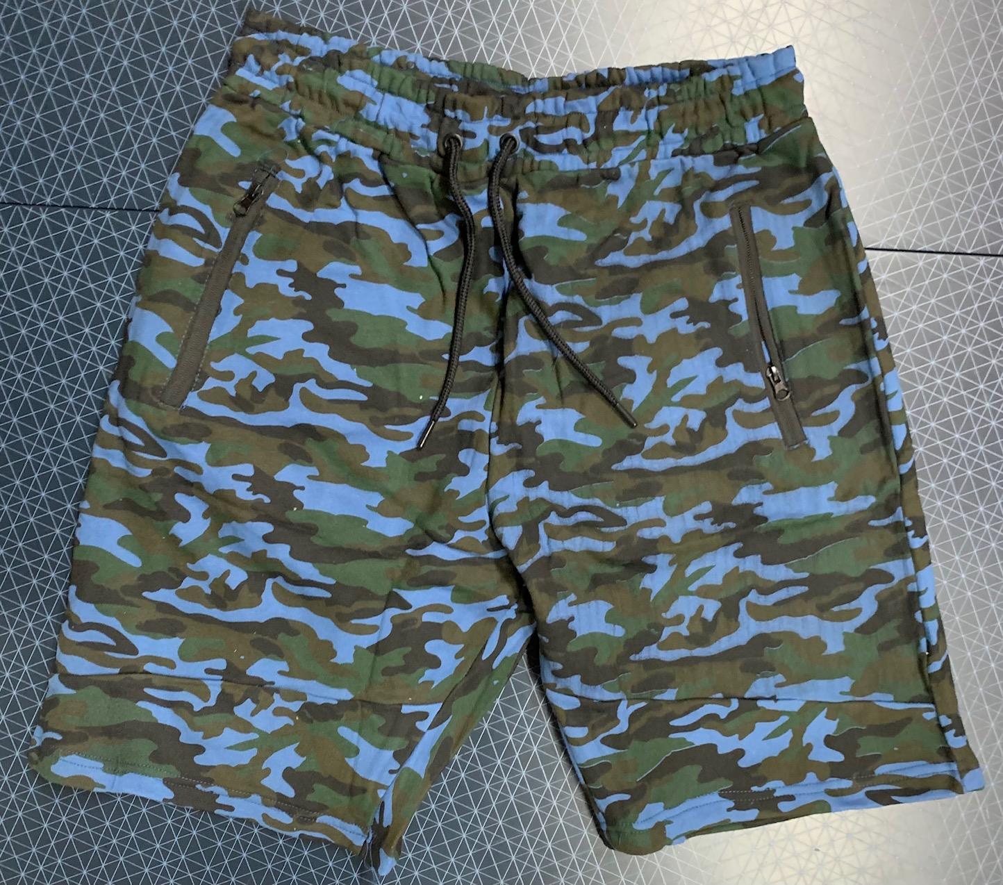 Мужские шорты камуфляж из трикотажной ткани