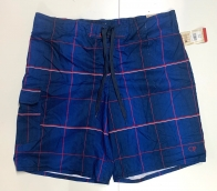 Мужские шорты от бренда OP темно-синие в клетку