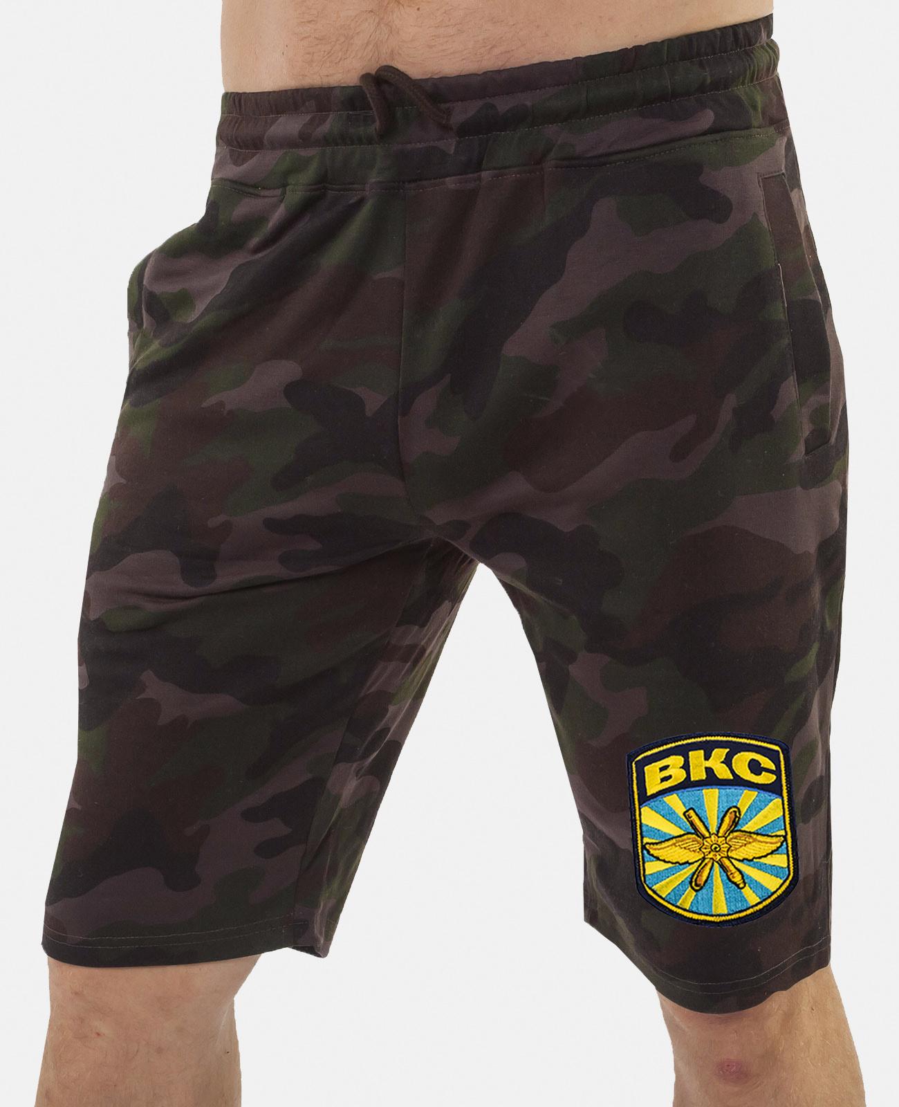 Купить мужские шорты с карманами и нашивкой ВКС онлайн в Военпро