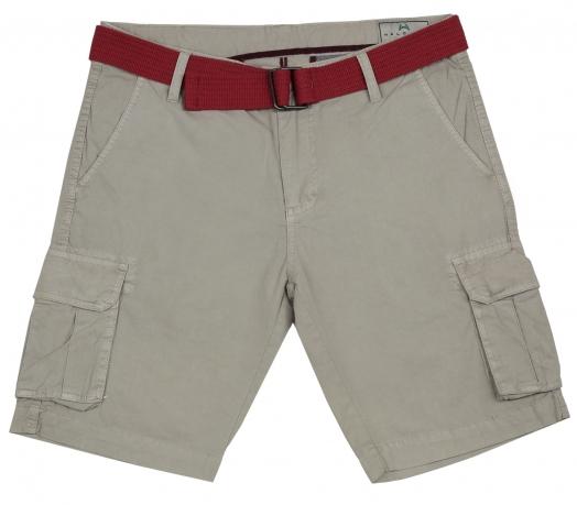Мужские шорты с красным ремнем Halogen. Специально для ценителей моды и качества!