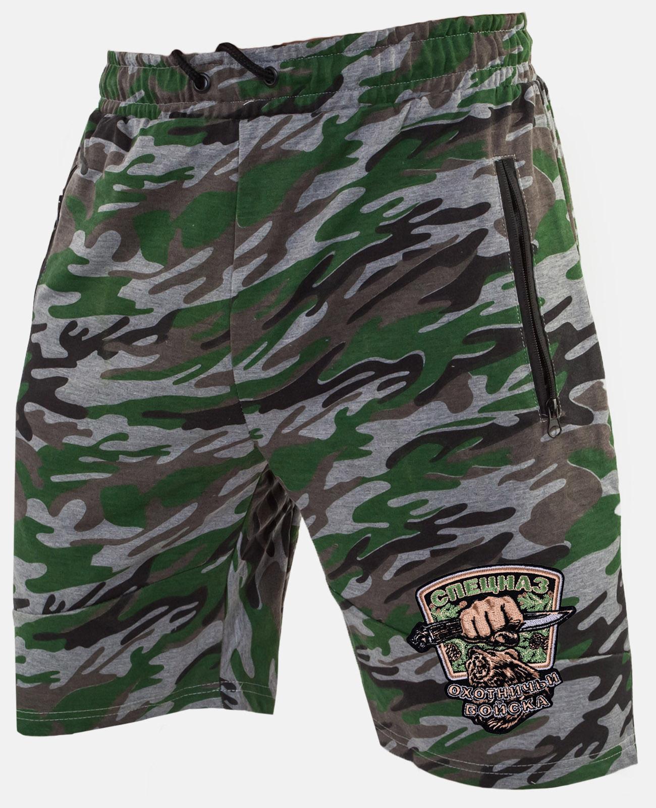 Мужские шорты с нашивкой Охотничий спецназ