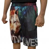 Мужские шорты с цветным принтом волка от Septwolves
