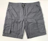 Мужские шорты серые с накладными карманами