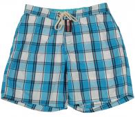 Мужские шорты синие в клетку. Качественный пошив, отличная цена