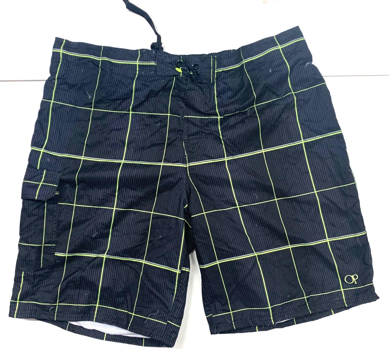 Мужские шорты темные от бренда OP в клетку