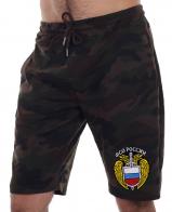 Мужские шорты в стиле милитари с вышитым шевроном ФСО