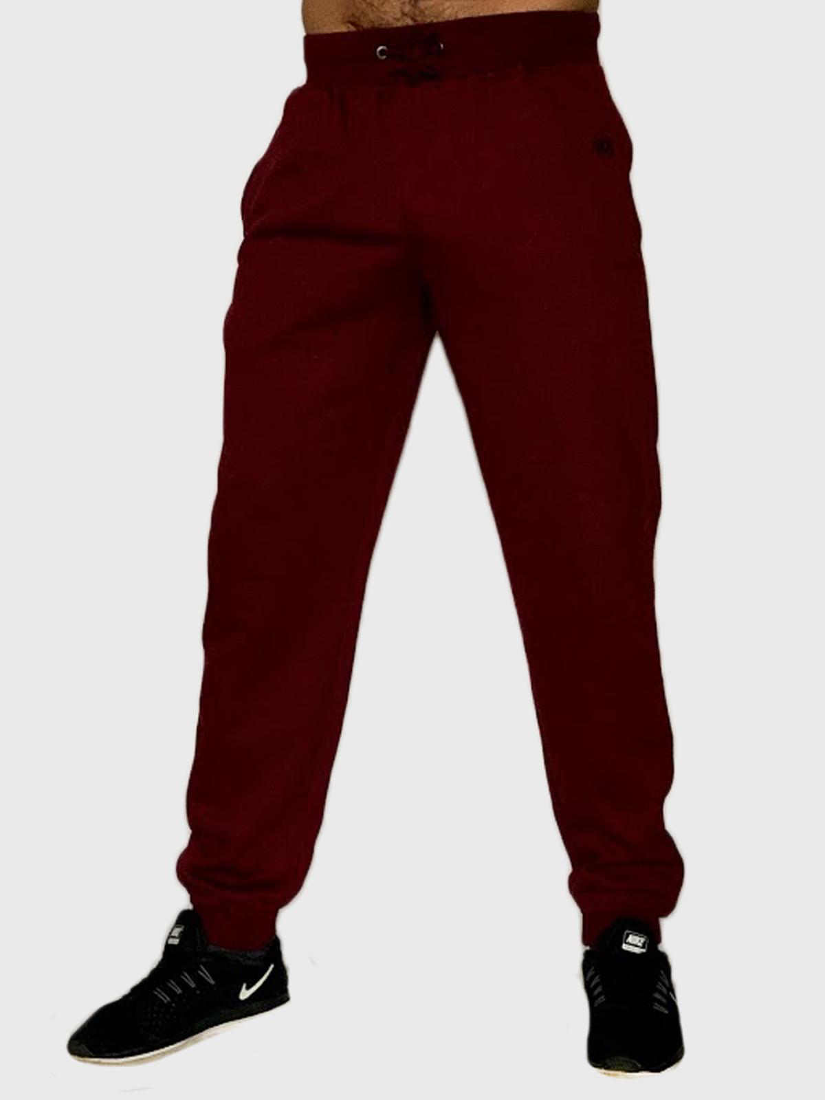 Мужские спортивные штаны бордового цвета