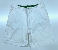 Мужские стильные шорты белого цвета с карманами