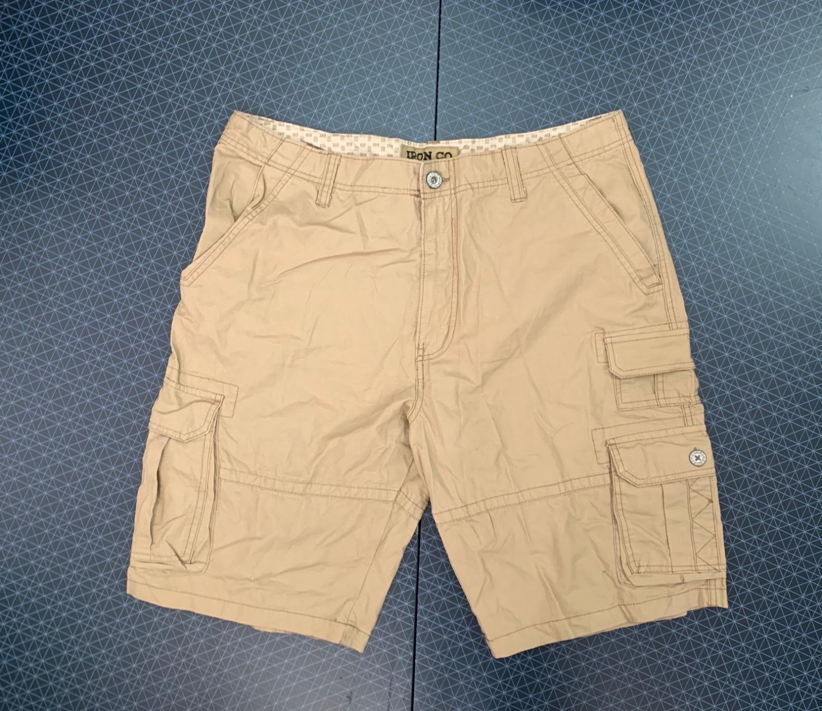 Мужские светлые шорты с карманами от IRON CO