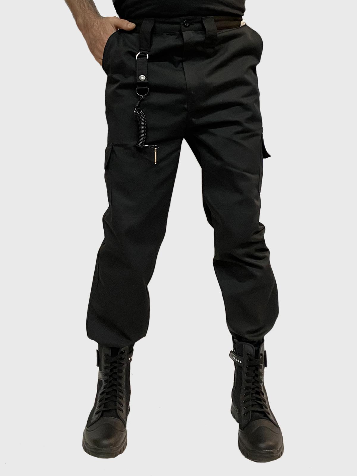 Мужские штаны армейского фасона с карманами