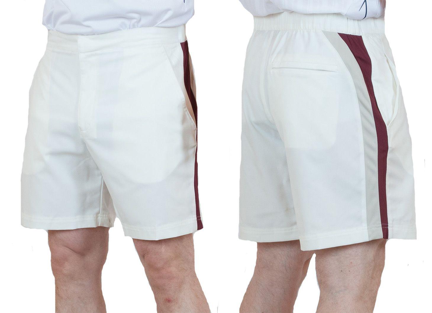 Заказать мужские теннисные шорты белого цвета