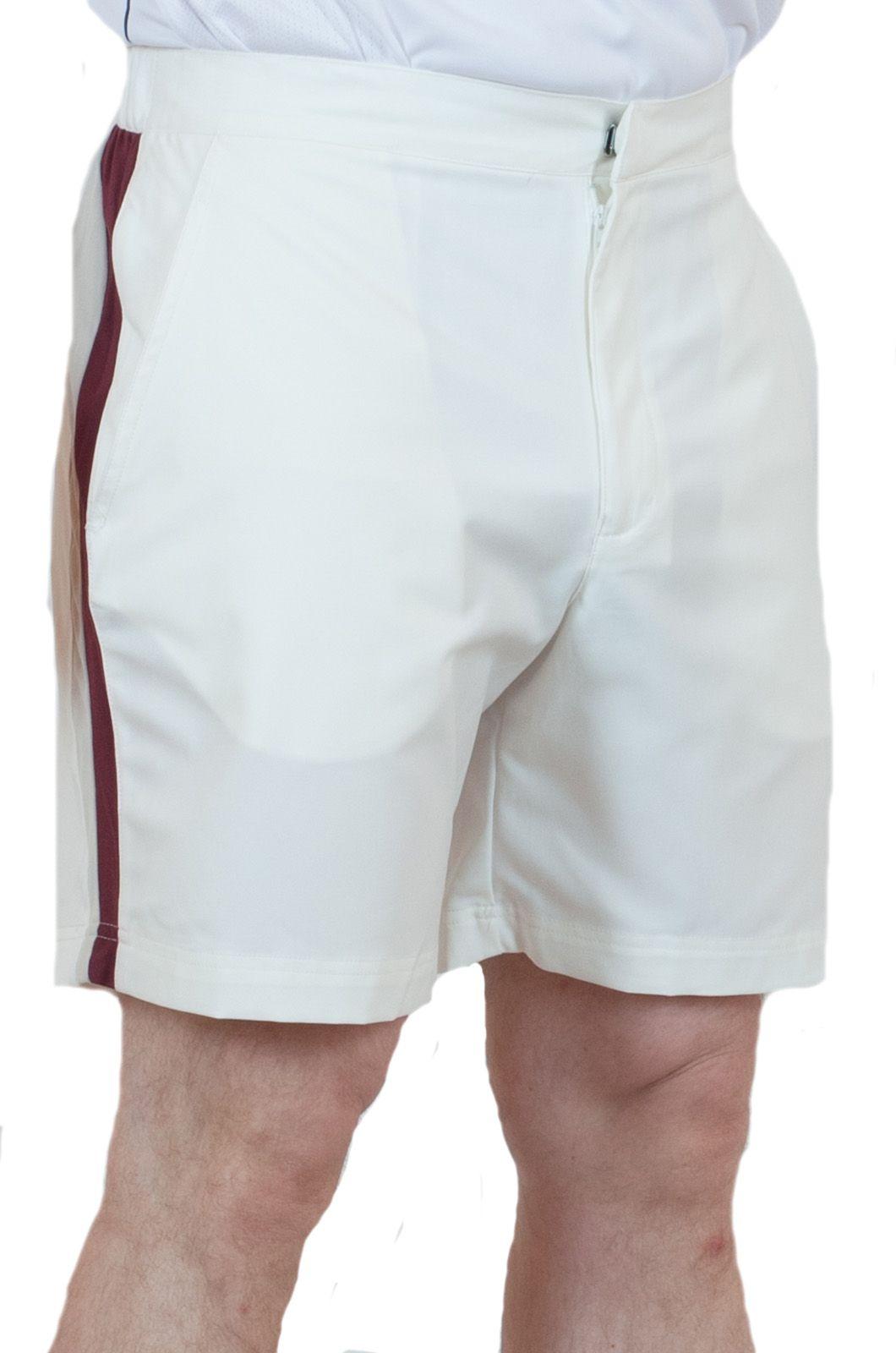 Мужские теннисные шорты белого цвета - вид спереди