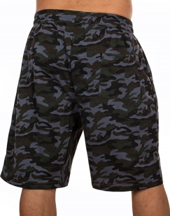 Мужские удлиненные шорты с нашивкой ПОЛИЦИЯ - купить онлайн